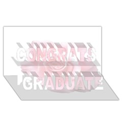 Pink White Love Rose Congrats Graduate 3D Greeting Card (8x4)