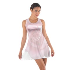 Pink White Love Rose Racerback Dresses
