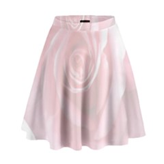 Pink White Love Rose High Waist Skirt