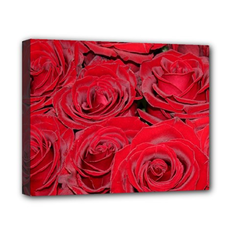 Red Love Roses Canvas 10  x 8