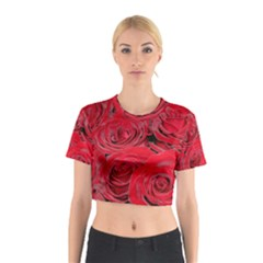 Red Love Roses Cotton Crop Top