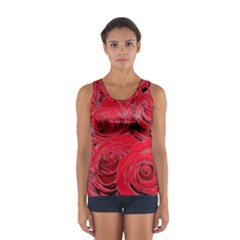 Red Love Roses Tops