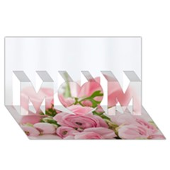 Romantic Pink Flowers MOM 3D Greeting Card (8x4)