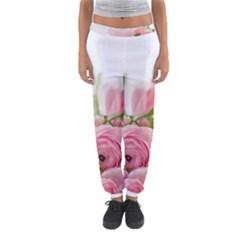Romantic Pink Flowers Women s Jogger Sweatpants