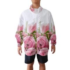 Romantic Pink Flowers Wind Breaker (kids)