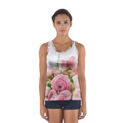Romantic Pink Flowers Tops