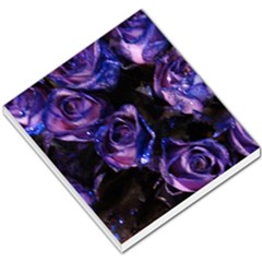 Purple Glitter Roses Valentine Love Small Memo Pads