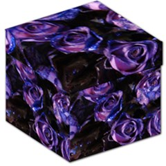 Purple Glitter Roses Valentine Love Storage Stool 12