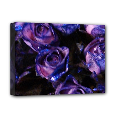 Purple Glitter Roses Valentine Love Deluxe Canvas 16  x 12