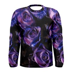 Purple Glitter Roses Valentine Love Men s Long Sleeve Tee