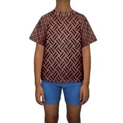 WOV2 BK MARBLE COPPER (R) Kid s Short Sleeve Swimwear