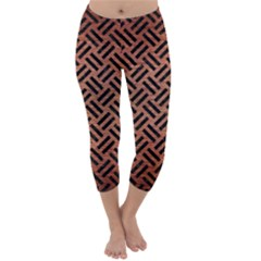 WOV2 BK MARBLE COPPER (R) Capri Winter Leggings