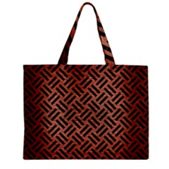 Woven2 Black Marble & Copper Brushed Metal (r) Zipper Mini Tote Bag