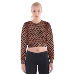 WOV2 BK MARBLE COPPER (R) Women s Cropped Sweatshirt