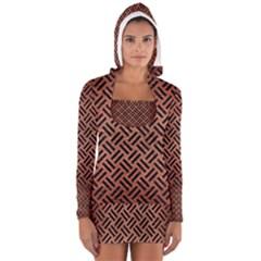 WOV2 BK MARBLE COPPER (R) Women s Long Sleeve Hooded T-shirt