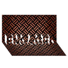 Woven2 Black Marble & Copper Brushed Metal Engaged 3d Greeting Card (8x4)