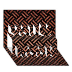 Woven2 Black Marble & Copper Brushed Metal You Rock 3d Greeting Card (7x5)