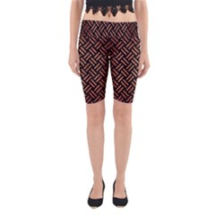 Woven2 Black Marble & Copper Brushed Metal Yoga Cropped Leggings