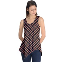 Woven2 Black Marble & Copper Brushed Metal Sleeveless Tunic