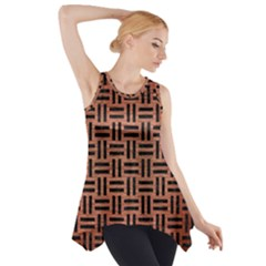 Woven1 Black Marble & Copper Brushed Metal (r) Side Drop Tank Tunic