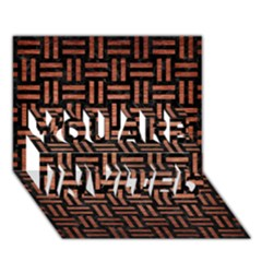 Woven1 Black Marble & Copper Brushed Metal You Are Invited 3d Greeting Card (7x5)