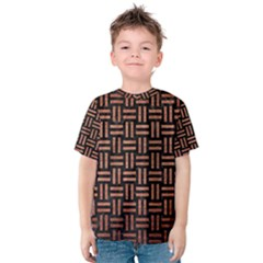 Woven1 Black Marble & Copper Brushed Metal Kids  Cotton Tee