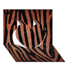 Skin4 Black Marble & Copper Brushed Metal (r) Heart 3d Greeting Card (7x5)