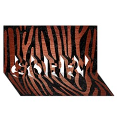 Skin4 Black Marble & Copper Brushed Metal (r) Sorry 3d Greeting Card (8x4)