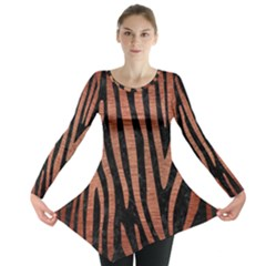 SKN4 BK MARBLE COPPER (R) Long Sleeve Tunic