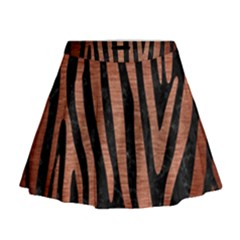 Skin4 Black Marble & Copper Brushed Metal (r) Mini Flare Skirt