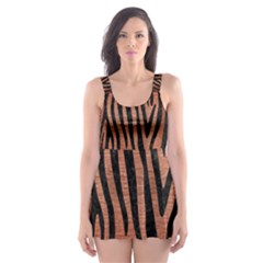 SKN4 BK MARBLE COPPER Skater Dress Swimsuit
