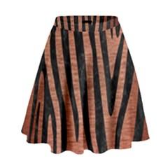 SKN4 BK MARBLE COPPER High Waist Skirt