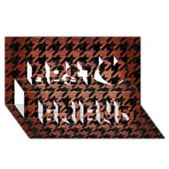 Houndstooth1 Black Marble & Copper Brushed Metal Best Friends 3d Greeting Card (8x4)