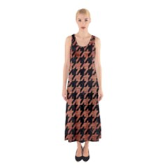 HTH1 BK MARBLE COPPER Full Print Maxi Dress
