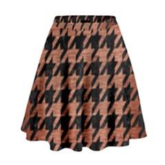 HTH1 BK MARBLE COPPER High Waist Skirt