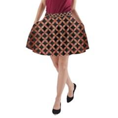 CIR3 BK MARBLE COPPER A-Line Pocket Skirt