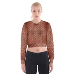 BRK2 BK MARBLE COPPER (R) Women s Cropped Sweatshirt