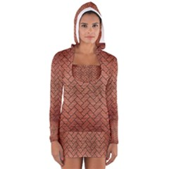 BRK2 BK MARBLE COPPER (R) Women s Long Sleeve Hooded T-shirt