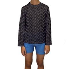 BRK2 BK MARBLE COPPER Kid s Long Sleeve Swimwear