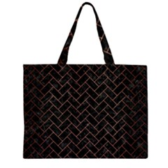 BRK2 BK MARBLE COPPER Large Tote Bag