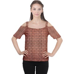 Brick1 Black Marble & Copper Brushed Metal (r) Cutout Shoulder Tee