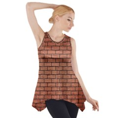 Brick1 Black Marble & Copper Brushed Metal (r) Side Drop Tank Tunic
