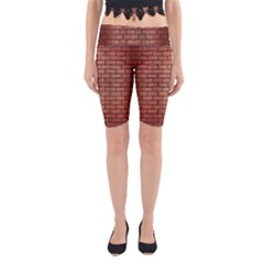 Brick1 Black Marble & Copper Brushed Metal (r) Yoga Cropped Leggings