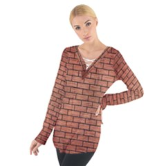 BRK1 BK MARBLE COPPER (R) Women s Tie Up Tee