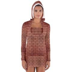 BRK1 BK MARBLE COPPER (R) Women s Long Sleeve Hooded T-shirt