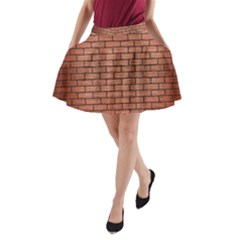 BRK1 BK MARBLE COPPER (R) A-Line Pocket Skirt