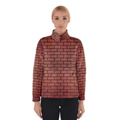 Brick1 Black Marble & Copper Brushed Metal (r) Winter Jacket