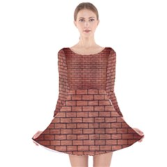 BRK1 BK MARBLE COPPER (R) Long Sleeve Velvet Skater Dress