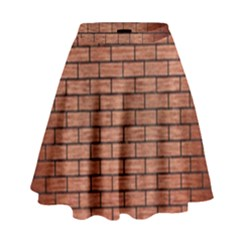 BRK1 BK MARBLE COPPER (R) High Waist Skirt