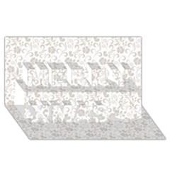 Elegant seamless Floral Ornaments Pattern Merry Xmas 3D Greeting Card (8x4)